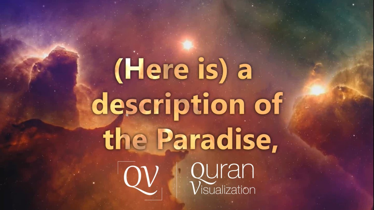 Description of Paradise | Surah Muhammad | Verse 15 | Quran Visualization